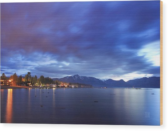Tahoe Twilight Wood Print