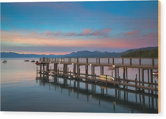Tahoe Vista  Wood Print