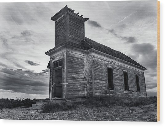 Taiban Presbyterian Church, New Mexico Wood Print