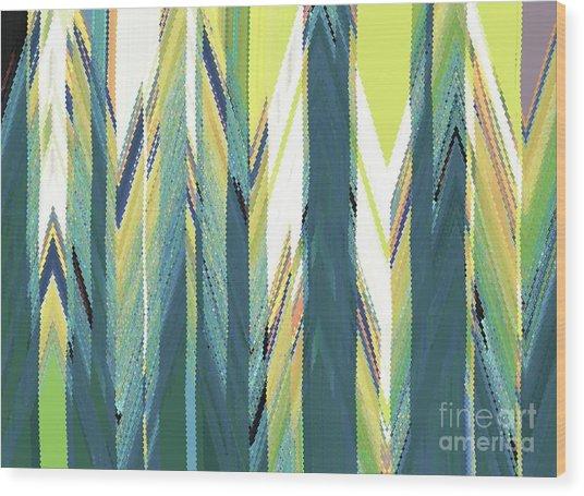 Taiga Forest Wood Print