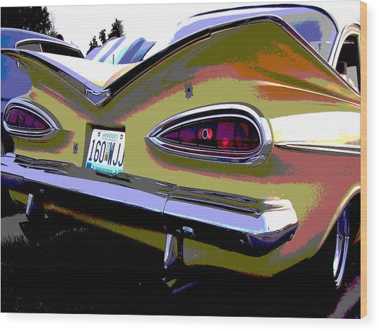 Tail Fins Wood Print by Audrey Venute