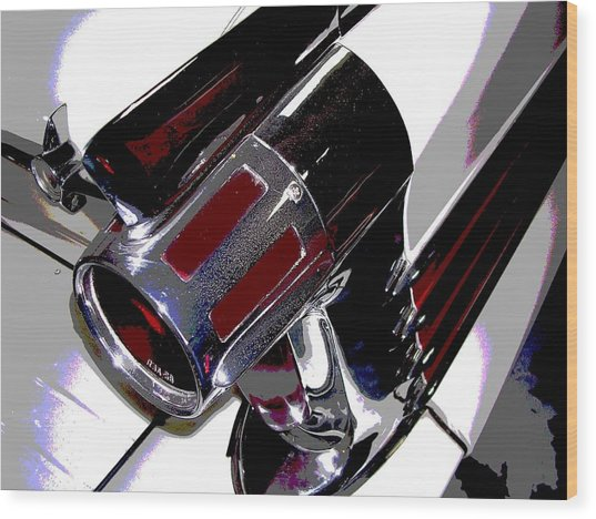 Taillight Wood Print by Audrey Venute