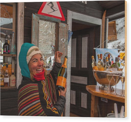 Taimi In Zermatt Switzerland Wood Print