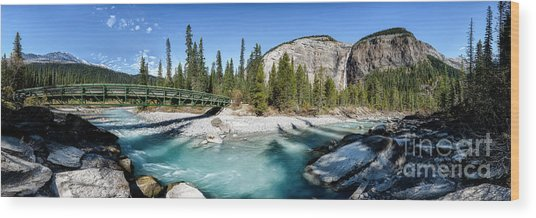 Wood Print featuring the photograph Takakkaw Falls by Brad Allen Fine Art