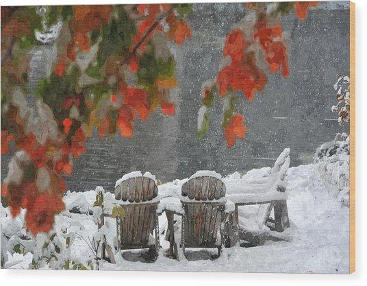 Take A Seat Wood Print