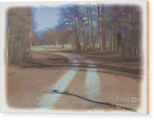 Take Me Home Country Road Wood Print