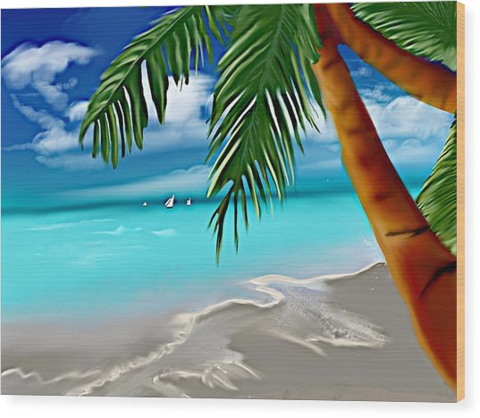 Takemeaway Beach Wood Print