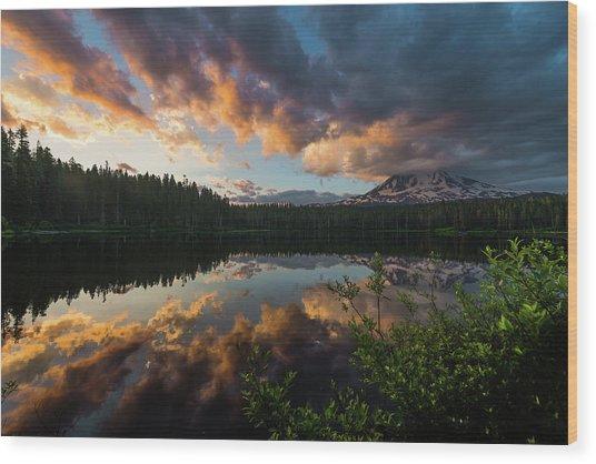 Takhlakh Lake Wood Print by Alex Kleist