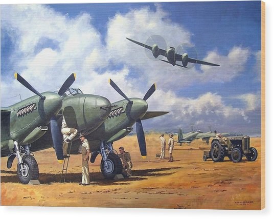 'taking Delivery - Mosquito' Wood Print