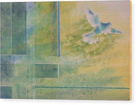 Taking Flight To The Light Wood Print