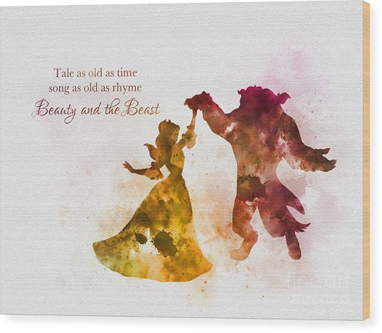 Tale As Old As Time Wood Print