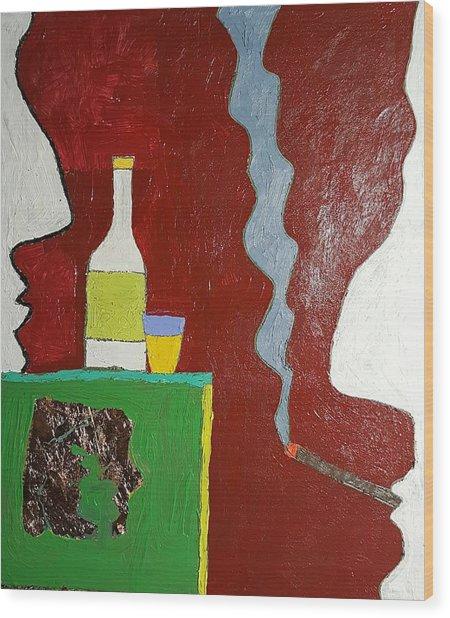 Talk Oil On Canvas 20 X 24 2016 Wood Print