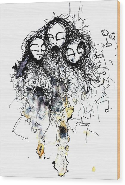 Talking To Yourself Again Wood Print by Mark M  Mellon