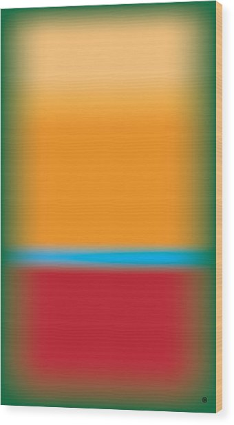 Tall Abstract Color Wood Print