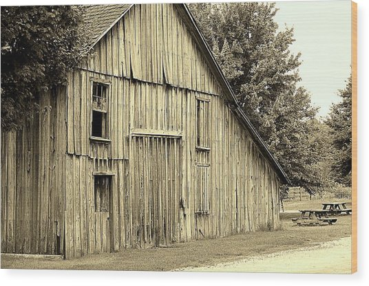 Tall Barn Wood Print