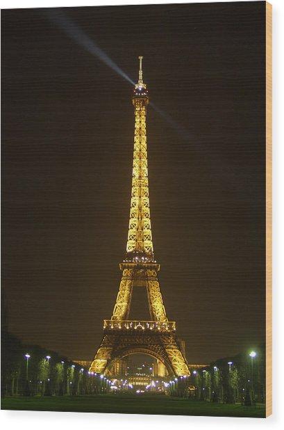 Tall Eiffel Tower Wood Print