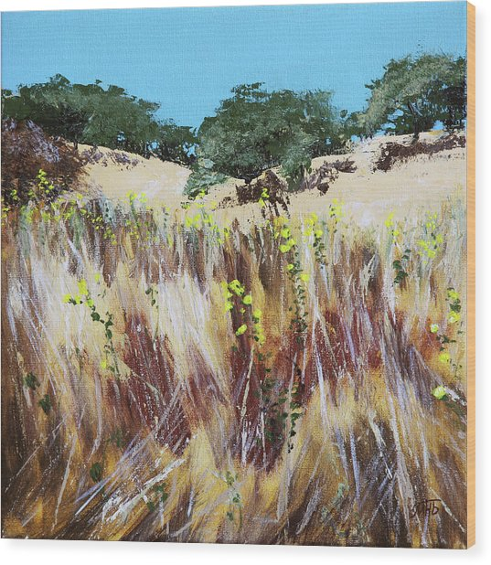 Tall Grass. Late Summer Wood Print