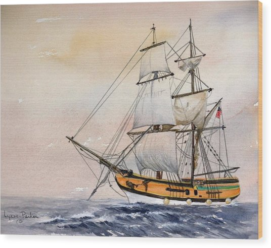 Tall Masted Ship Wood Print by Lynne Parker