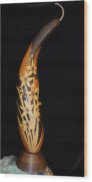 Tall Orchids #gn37 Wood Print