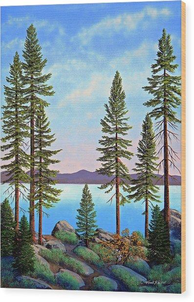 Tall Pines Of Lake Tahoe Wood Print