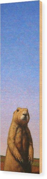 Tall Prairie Dog Wood Print