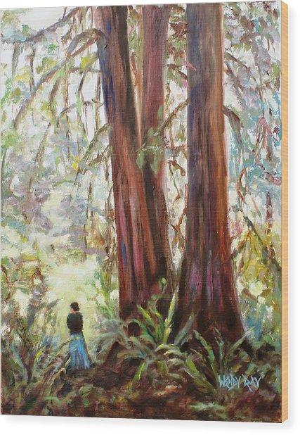Tall Prayers Wood Print