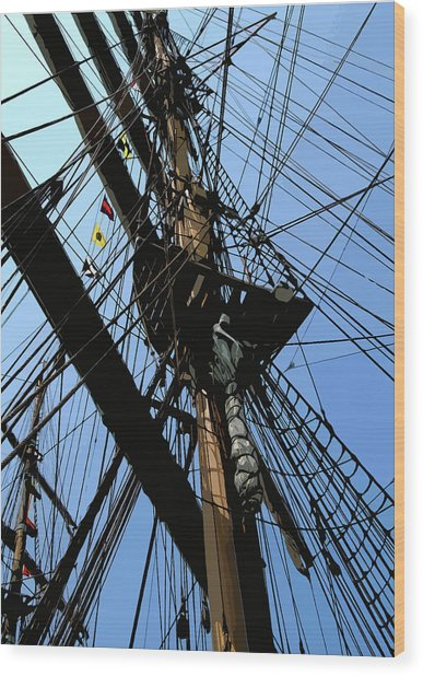 Tall Ship Design By John Foster Dyess Wood Print