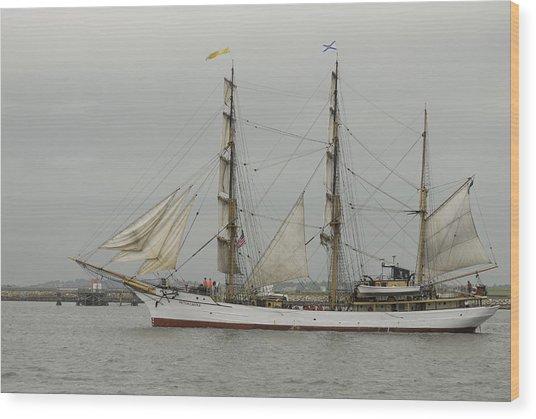 Tall Ship Wood Print by Mimi Katz