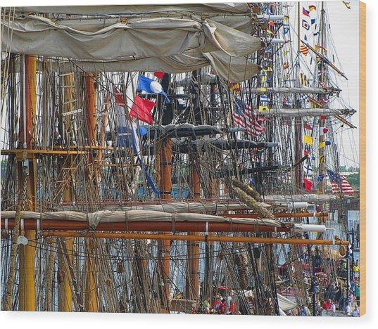 Tall Ship Series 4 Wood Print