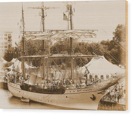 Tall Ship Series 6 Wood Print by Scott Hovind