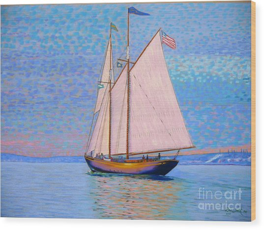 Tall Ship Virginia Entering Halifax Harbour Wood Print