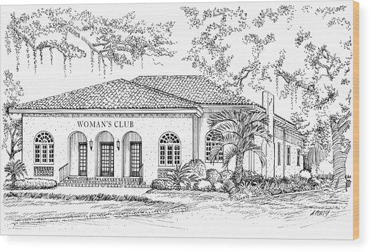 Tallahassee Womens Club Wood Print