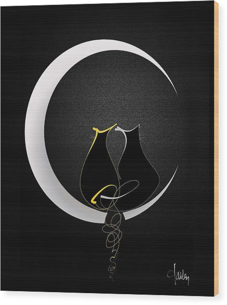 Talleycats - Moonglow Wood Print