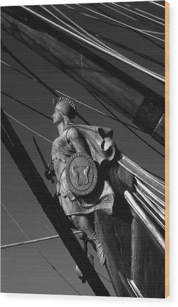 Tallship Figure Head Wood Print