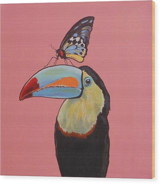 Talula The Toucan Wood Print