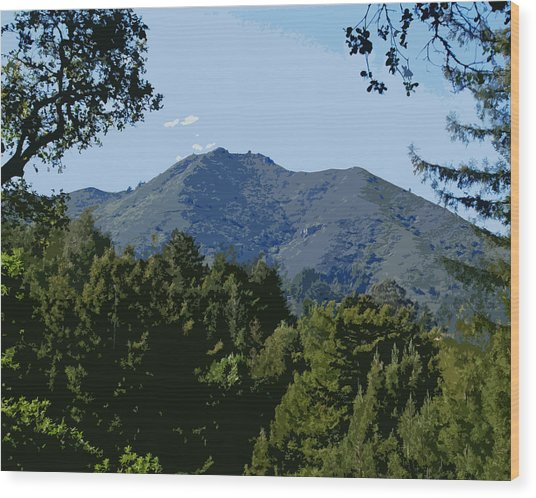 Tamalpais...the Sleeping Princess Wood Print