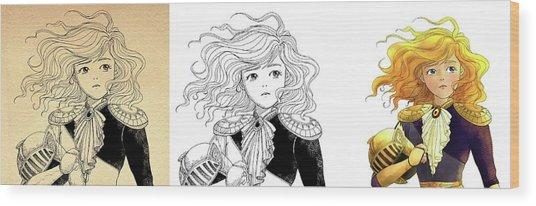 Tammy Portrait  Restorations Wood Print