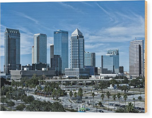 Tampa Bay Skyline Wood Print