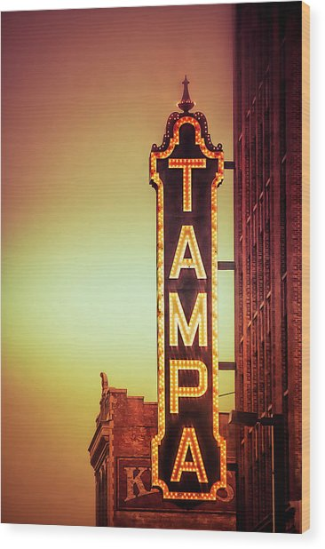 Tampa Theatre Wood Print