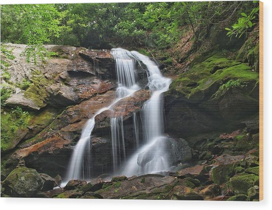 Upper Dill Falls Wood Print