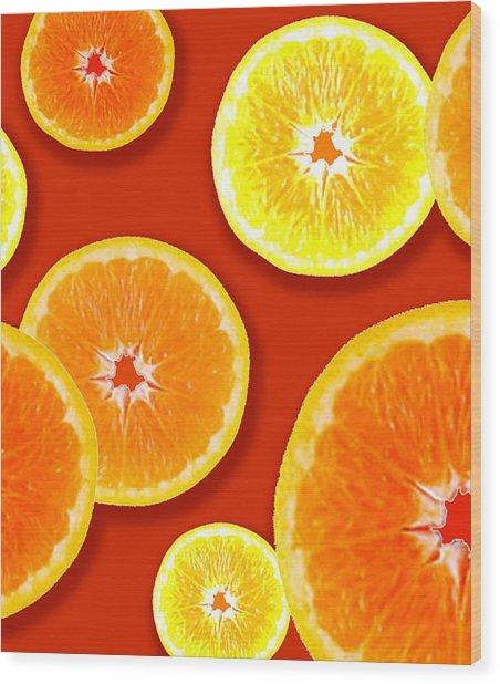Tangerine Tango Wood Print
