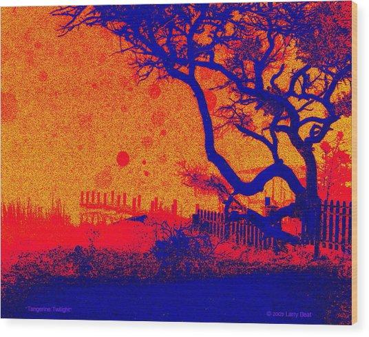 Tangerine Twilight Wood Print