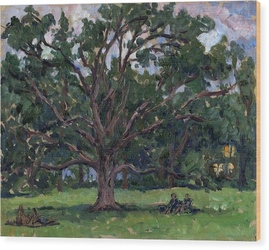 Tanglewood Tree Wood Print