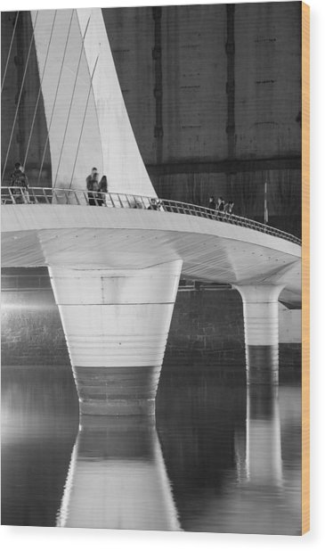 Tango Bridge Wood Print