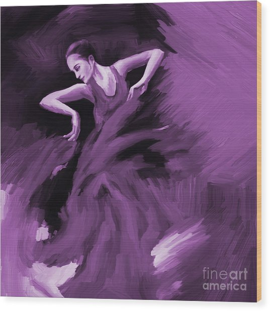 Tango Dancer 01 Wood Print