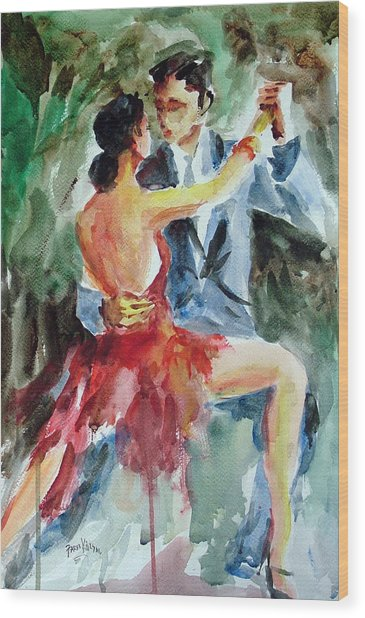 Tango In The Night Wood Print