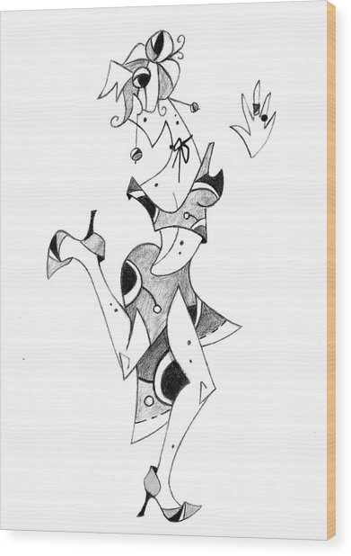 Tango Lessons Boleo - Woman Drawing Wood Print