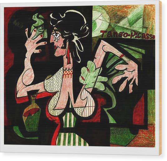 Tango Picasso Wood Print