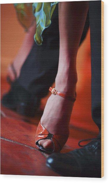 Tango Toes Wood Print