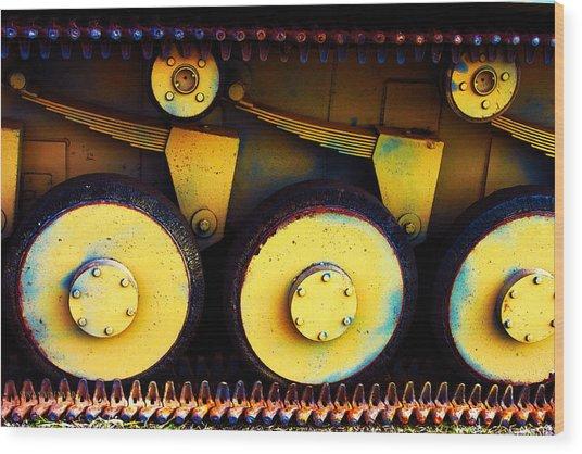 Tank Detail Wood Print